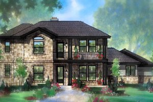 Architectural House Design - Farmhouse Exterior - Front Elevation Plan #935-19