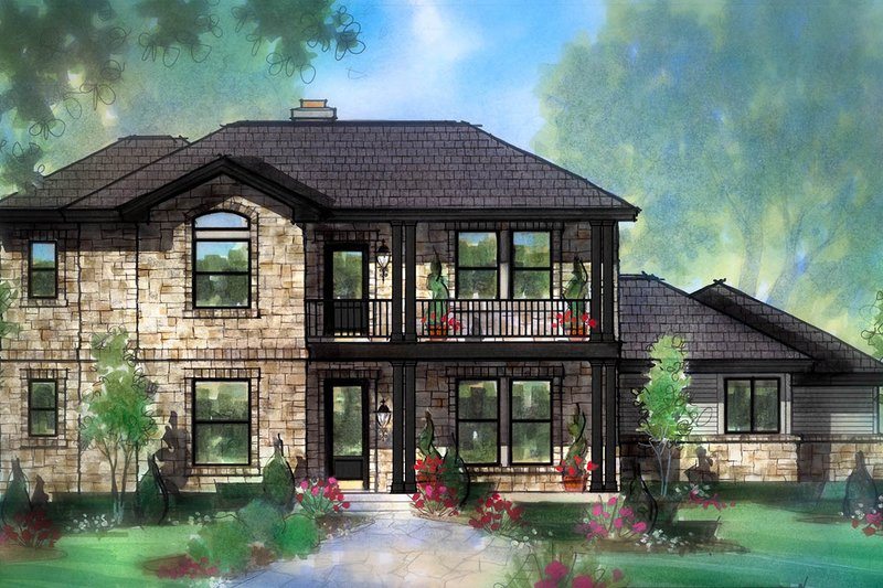Farmhouse Style House Plan - 3 Beds 2.5 Baths 2556 Sq/Ft Plan #935-19 Exterior - Front Elevation