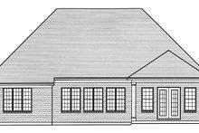 House Plan Design - European Exterior - Rear Elevation Plan #46-855