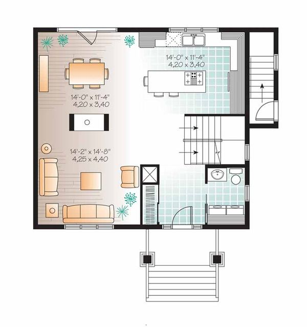 Traditional Floor Plan - Main Floor Plan Plan #23-2507