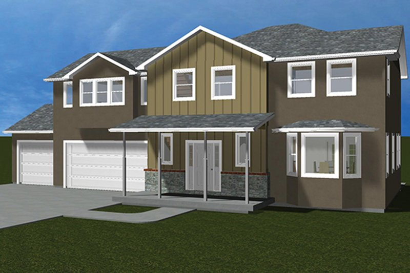 Traditional Exterior - Front Elevation Plan #1060-32