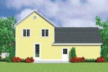 House Blueprint - Victorian Exterior - Rear Elevation Plan #72-1109