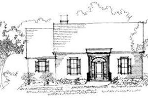 Southern Exterior - Front Elevation Plan #325-115