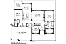 Modern Floor Plan - Main Floor Plan Plan #70-1424