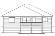 Home Plan - Traditional Exterior - Rear Elevation Plan #124-1027