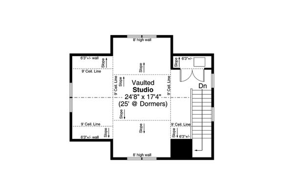 House Plan Design - Cottage Floor Plan - Upper Floor Plan #124-1223