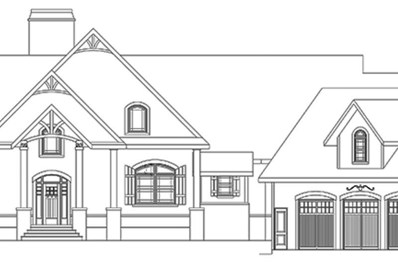 Craftsman Exterior - Front Elevation Plan #119-424 - Houseplans.com