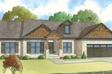 Ranch Exterior - Front Elevation Plan #17-3396