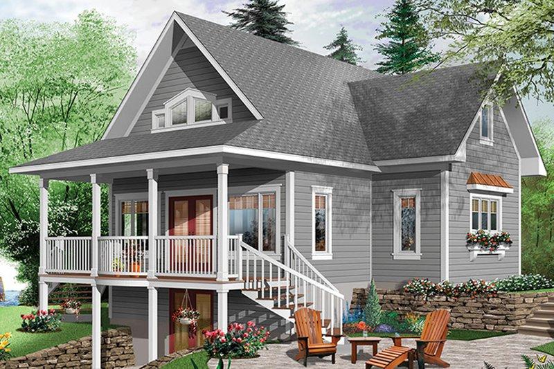 Traditional Exterior - Rear Elevation Plan #23-2609 - Houseplans.com
