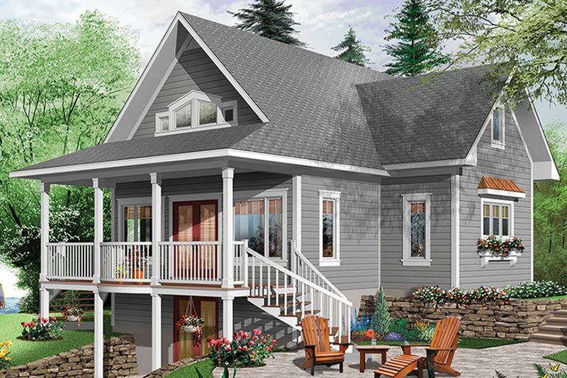 House Plan Design - Traditional Exterior - Rear Elevation Plan #23-2609