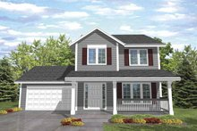 Country Exterior - Front Elevation Plan #320-840