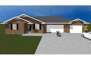 Dream House Plan - Ranch Exterior - Front Elevation Plan #1060-27