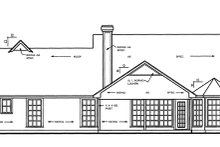 Home Plan - Country Exterior - Rear Elevation Plan #42-460