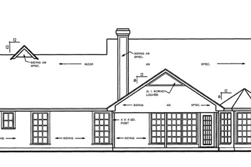 Country Exterior - Rear Elevation Plan #42-460 - Houseplans.com