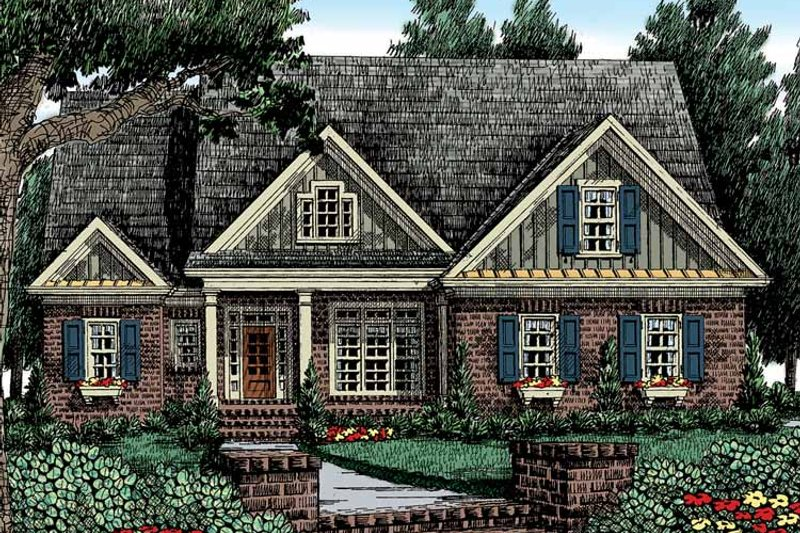 Country Exterior - Front Elevation Plan #927-411 - Houseplans.com