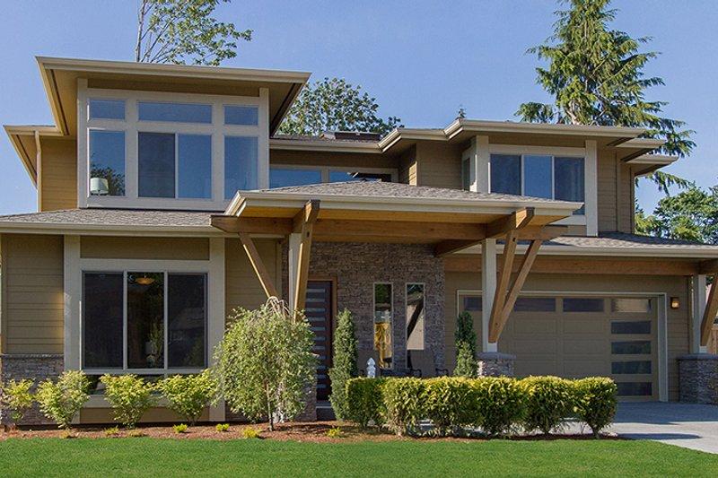 Contemporary Exterior - Front Elevation Plan #132-564 - Houseplans.com