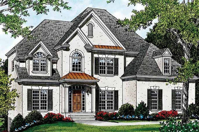 Traditional Exterior - Front Elevation Plan #453-117