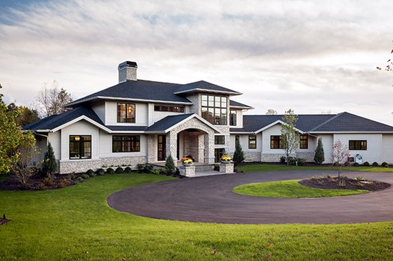 Dream House Plan - Contemporary Exterior - Front Elevation Plan #928-287