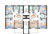 Traditional Style House Plan - 2 Beds 1 Baths 6201 Sq/Ft Plan #23-777 Floor Plan - Upper Floor Plan