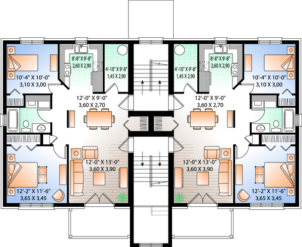 Traditional Floor Plan - Upper Floor Plan Plan #23-777