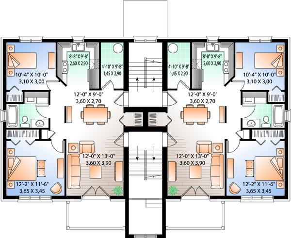 Dream House Plan - Traditional Floor Plan - Upper Floor Plan #23-777