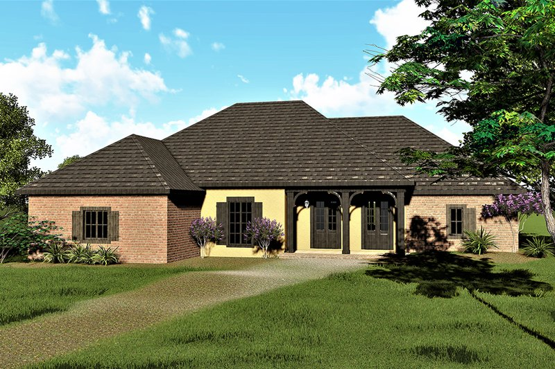 European Style House Plan - 3 Beds 2.5 Baths 2291 Sq/Ft Plan #44-181 Exterior - Front Elevation