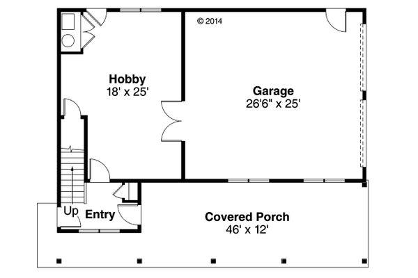 Craftsman Floor Plan - Main Floor Plan #124-935