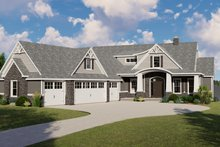 Dream House Plan - Ranch Exterior - Front Elevation Plan #1064-89