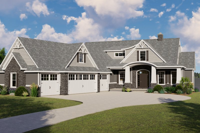 Home Plan - Ranch Exterior - Front Elevation Plan #1064-89