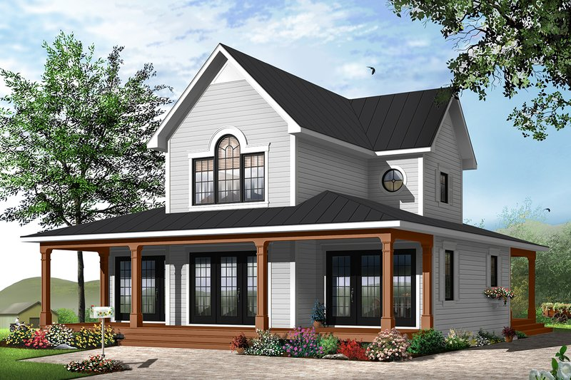 Traditional Style House Plan - 4 Beds 2.5 Baths 1955 Sq/Ft Plan #23-826