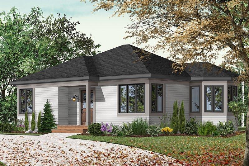 Architectural House Design - Cottage Exterior - Front Elevation Plan #23-166