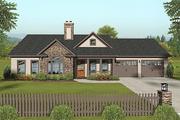 Craftsman Style House Plan - 3 Beds 2 Baths 1399 Sq/Ft Plan #56-618
