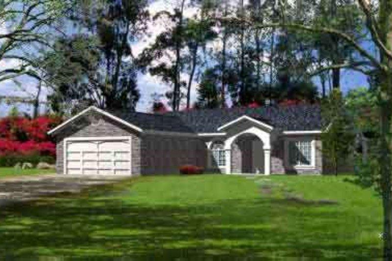 Adobe / Southwestern Style House Plan - 3 Beds 2 Baths 1569 Sq/Ft Plan #1-468