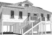 Beach Style House Plan - 3 Beds 3.5 Baths 2327 Sq/Ft Plan #63-355 Exterior - Rear Elevation