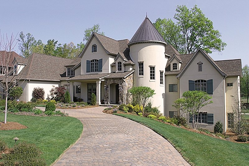 European Exterior - Front Elevation Plan #453-23 - Houseplans.com