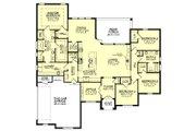 European Style House Plan - 4 Beds 2.5 Baths 2506 Sq/Ft Plan #430-143 Floor Plan - Main Floor