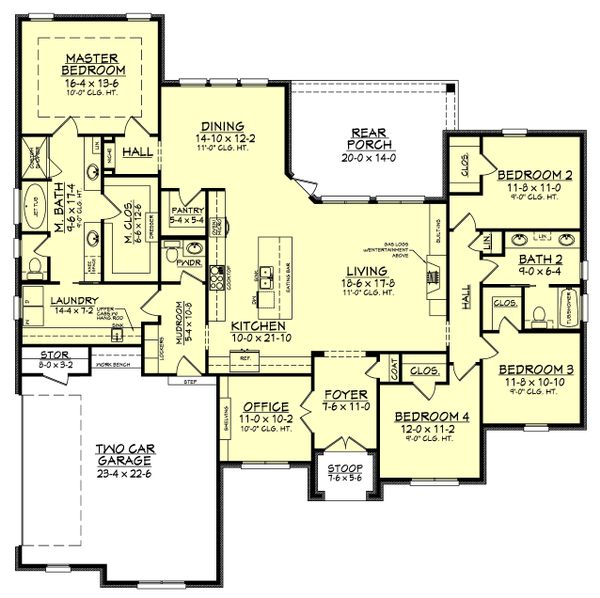 European Floor Plan - Main Floor Plan Plan #430-143