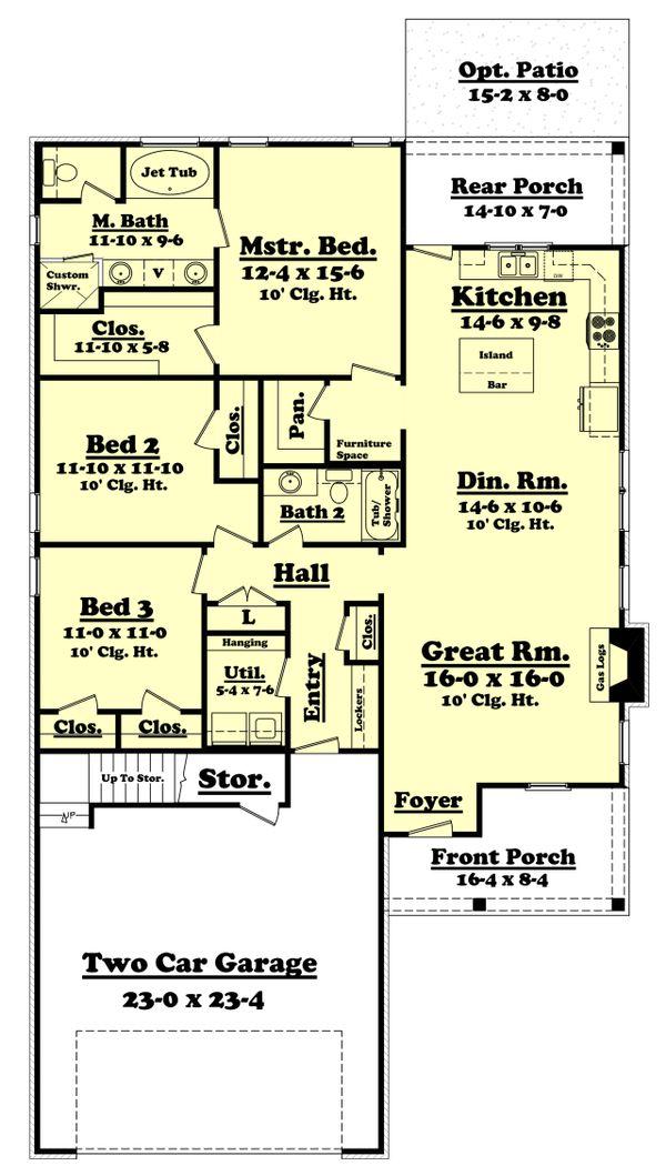 Country Floor Plan - Main Floor Plan Plan #430-97