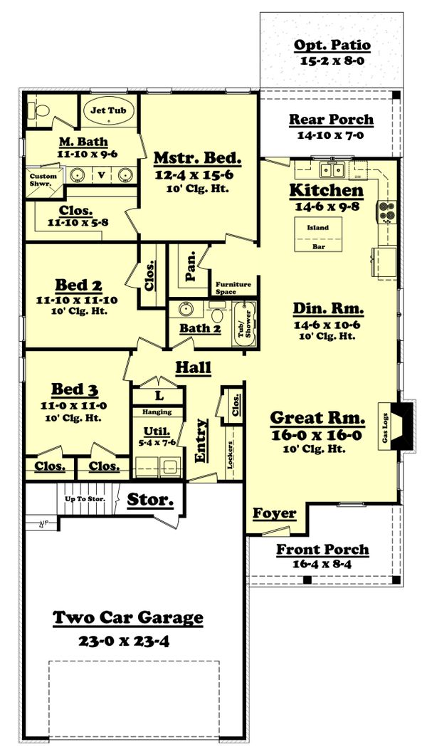 Country Floor Plan - Main Floor Plan Plan #430-97