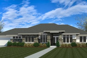 Dream House Plan - Modern Exterior - Front Elevation Plan #920-121