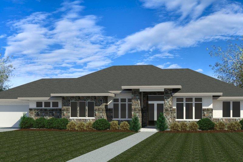 Architectural House Design - Modern Exterior - Front Elevation Plan #920-121