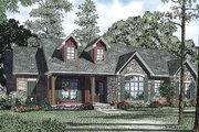 Traditional Style House Plan - 3 Beds 2.5 Baths 1960 Sq/Ft Plan #17-2400 Exterior - Front Elevation