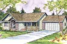 Ranch Exterior - Front Elevation Plan #124-442