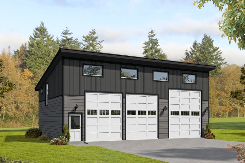 Dream House Plan - Contemporary Exterior - Front Elevation Plan #932-229