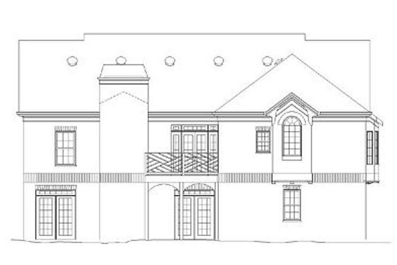 Colonial Exterior - Rear Elevation Plan #119-265 - Houseplans.com