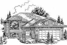 House Blueprint - Traditional Exterior - Front Elevation Plan #18-306