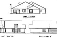 Traditional Exterior - Rear Elevation Plan #60-496