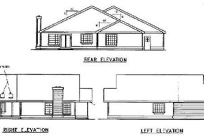 Traditional Exterior - Rear Elevation Plan #60-496 - Houseplans.com