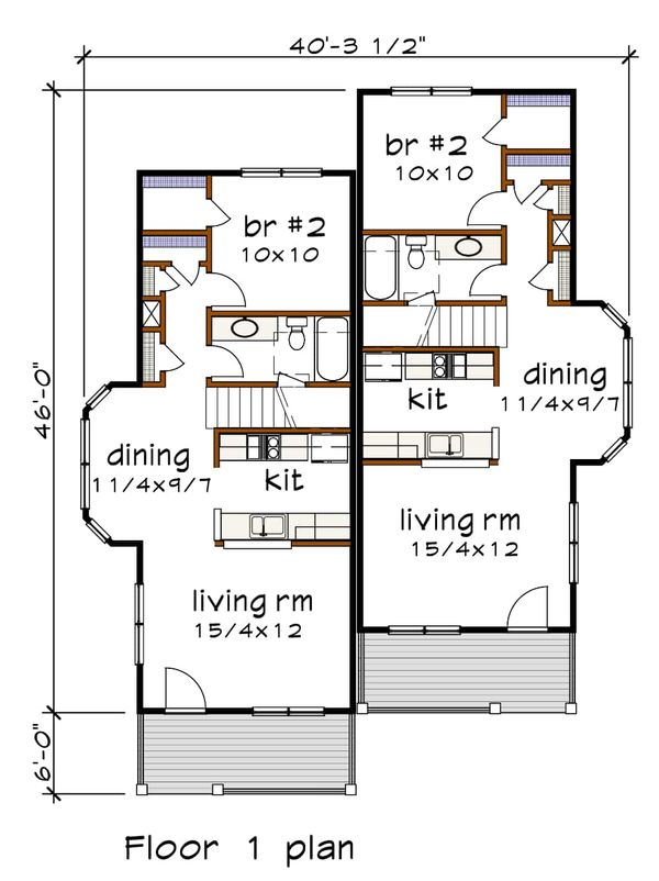 Dream House Plan - Southern Floor Plan - Main Floor Plan #79-242