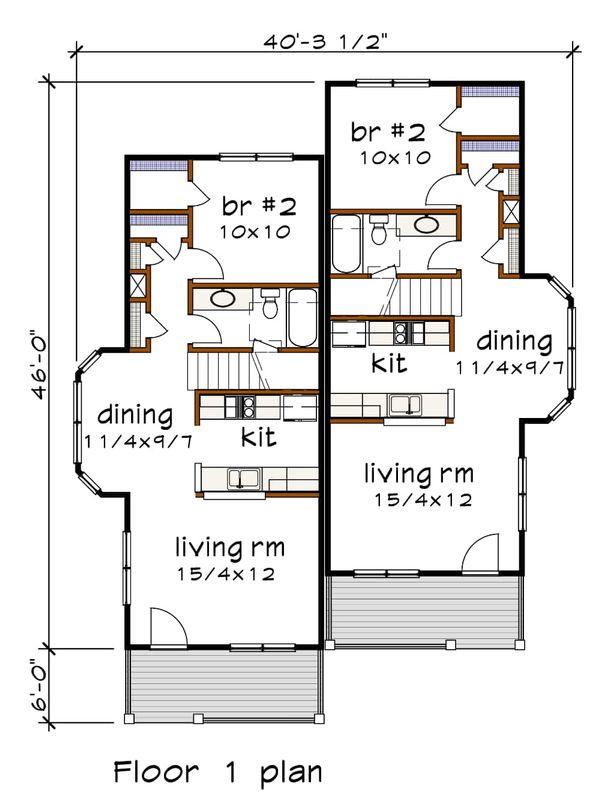 Southern Floor Plan - Main Floor Plan Plan #79-242